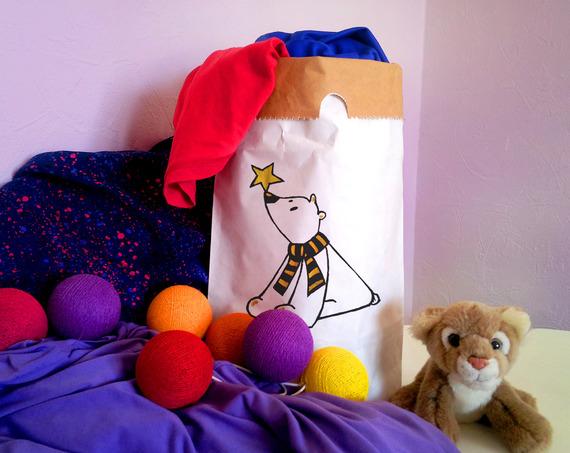 Mini sac de rangement Kraft Ours Polaire pour Chambre d'enfants