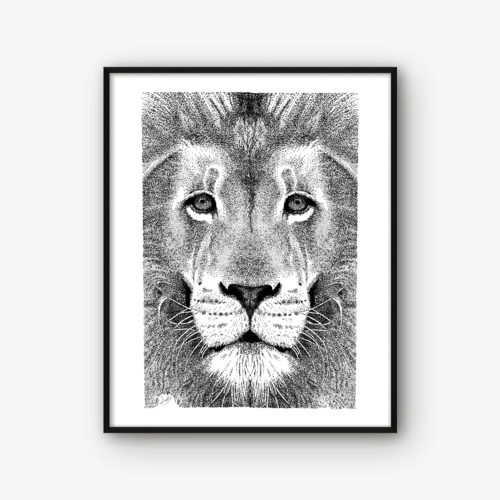 Illustration Lion Affiche Decoration Murale Animaux Art