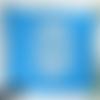 Coussin motif hiboux turquoise - coussin 40x40 - coussin déco déhoussable