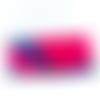 Jolie pochette rose et bleue wax