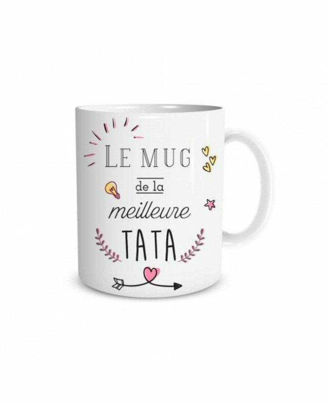 Mug personnalisé Tonton ou Tata : super tonton ou meilleure tata ! à offrir à votre tata ou tonton préférés !
