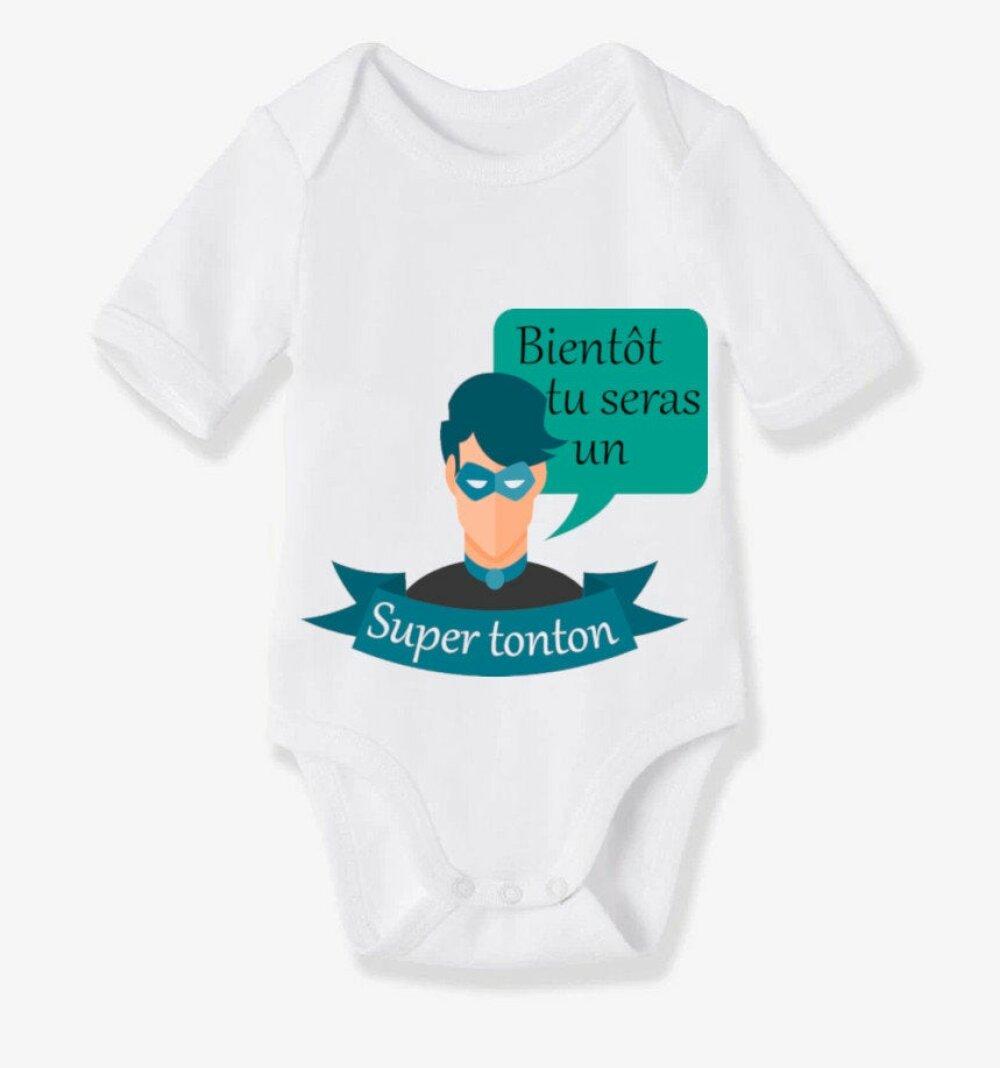 Body Bébé personnalisable spéciale annonce de grossesse ! Idée cadeau papa, papy, mamie, tata et tonton !