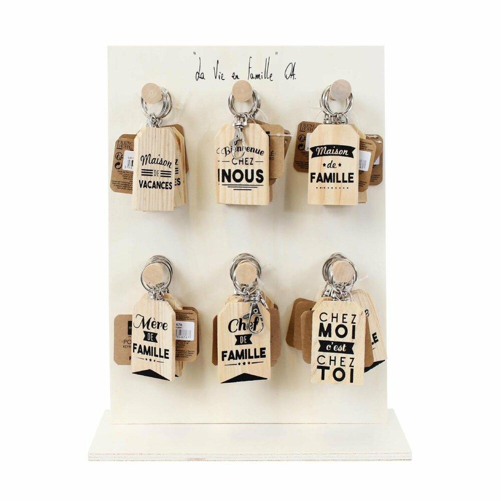 Porte-clés en bois pour un jolie trousseau de clefs