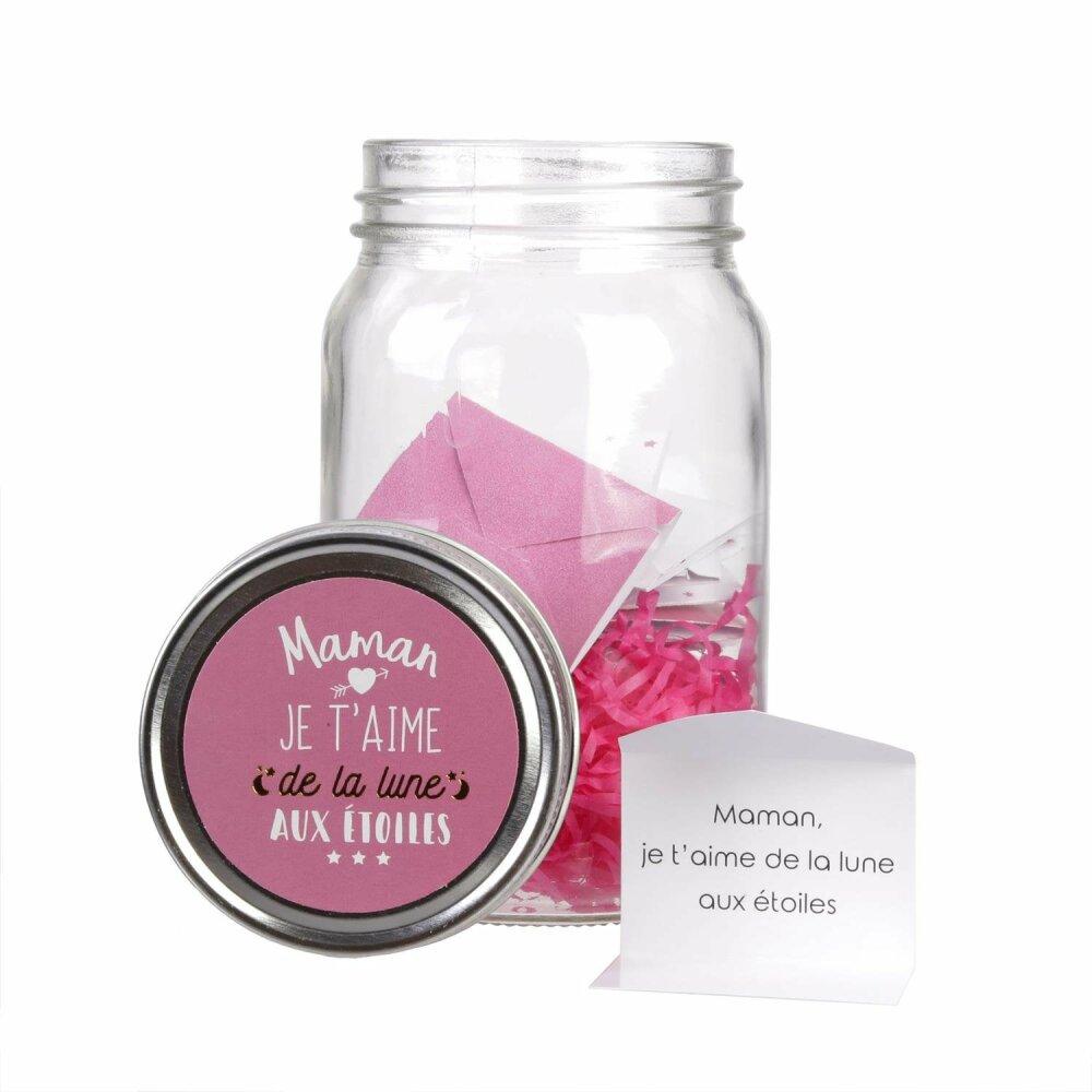 Boite Lumineuse Idee Message bocal à message personnalisable : papa ou maman ! idée cadeau original pour  les papas et mamans !