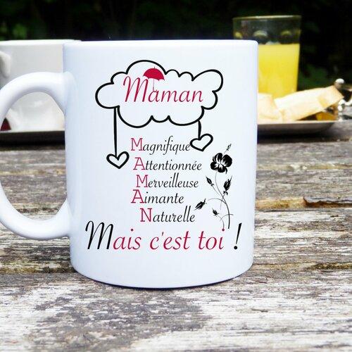Mug personnalisé maman, mais c'est toi ! idée cadeau original et unique fête des mères