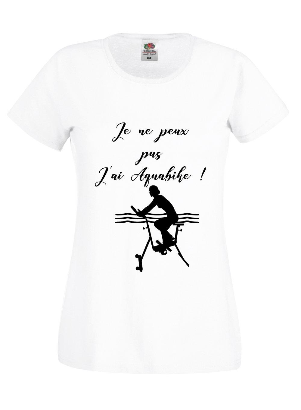T-shirt Femme je ne peux pas j'ai aquabike