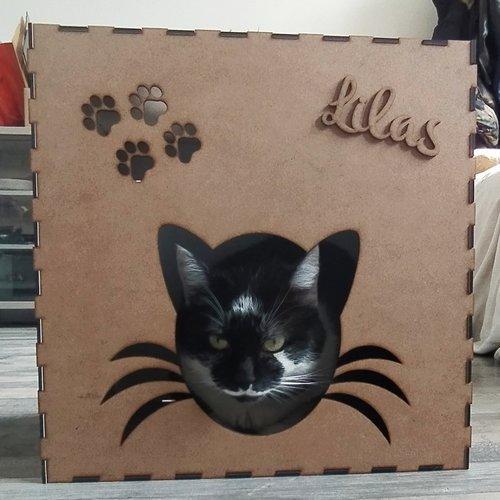 Maison pour chat personnalisé, niche personnalisé chat