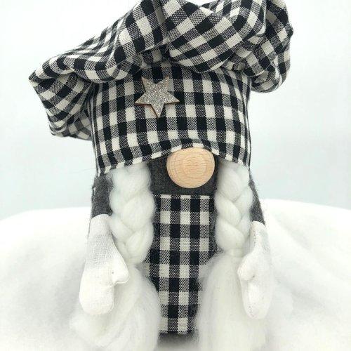 """Gnome """"mademoiselle chef"""" - gnome en tissu - décoration et cadeaux"""