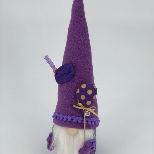 """Gnome collection """"gratitude""""  noeud doré - gnome de printemps - articles de décoration"""