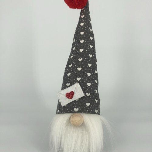 """Gnome """"messager de l'amour"""" s -  saint-valentin- collection 2021"""
