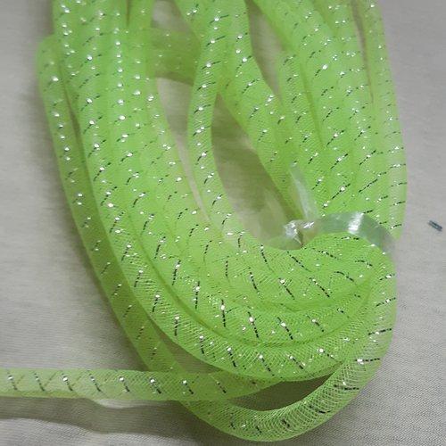 Résille tubulaire vert fluo