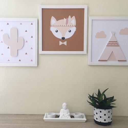 Ensemble décoration chambre enfant, thème indien