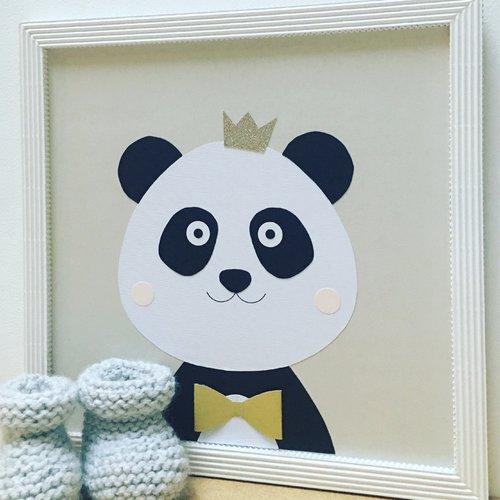 Tableau chambre enfant, déco panda