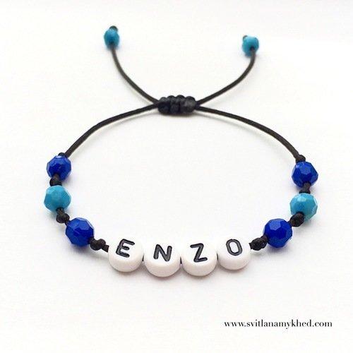 Bracelet personnalisé avec prénom enzo (réversible)
