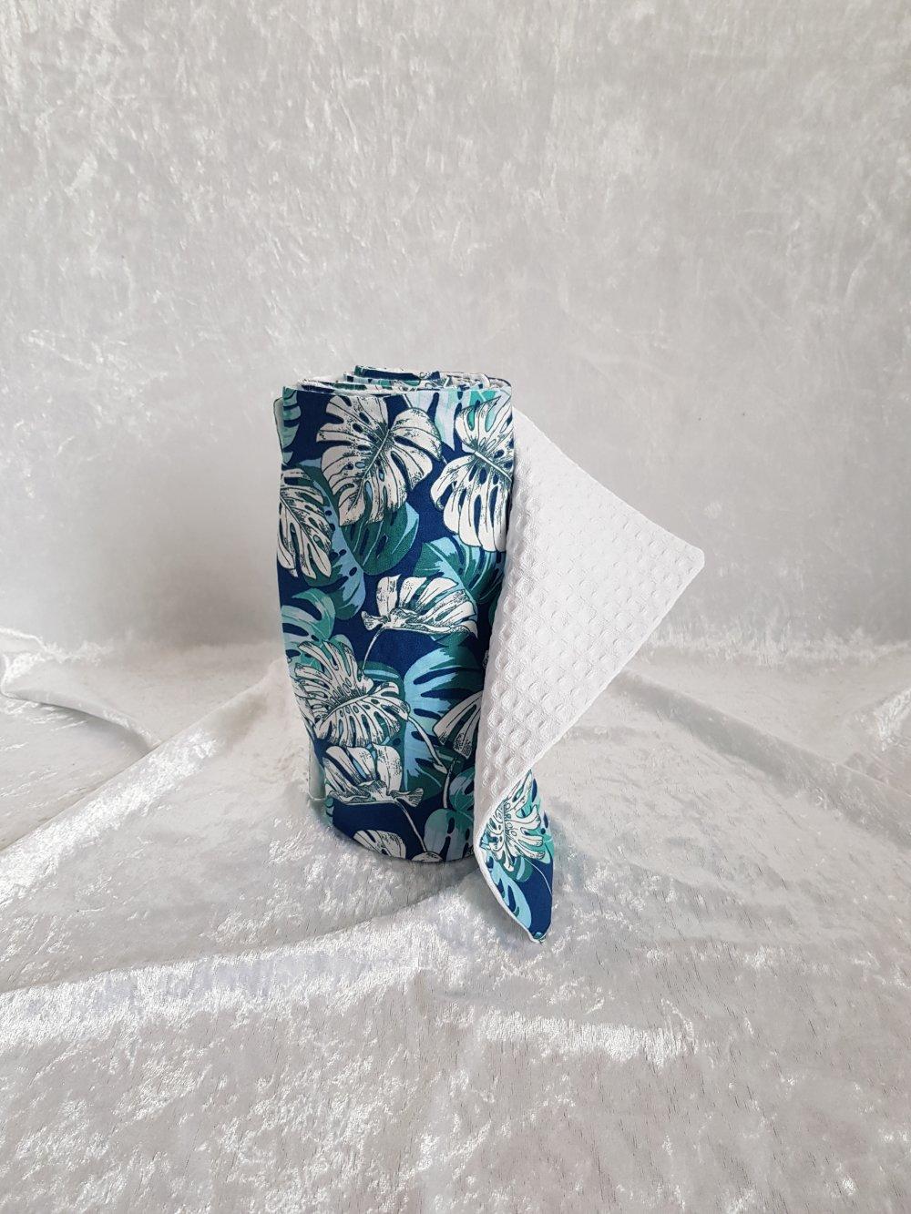 Essuie tout en tissu coton et nid d'abeille lavable