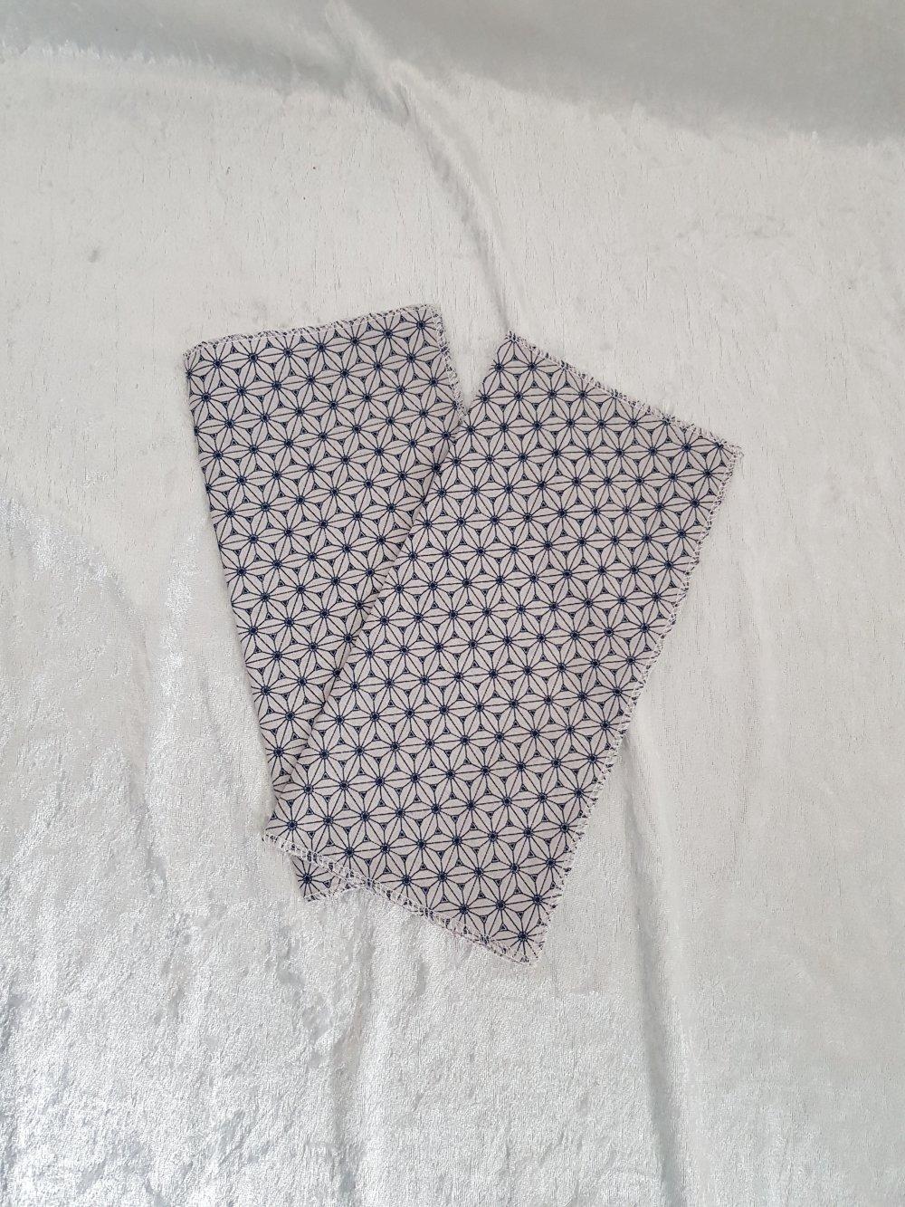 Lot de 2 mouchoirs en tissu coton