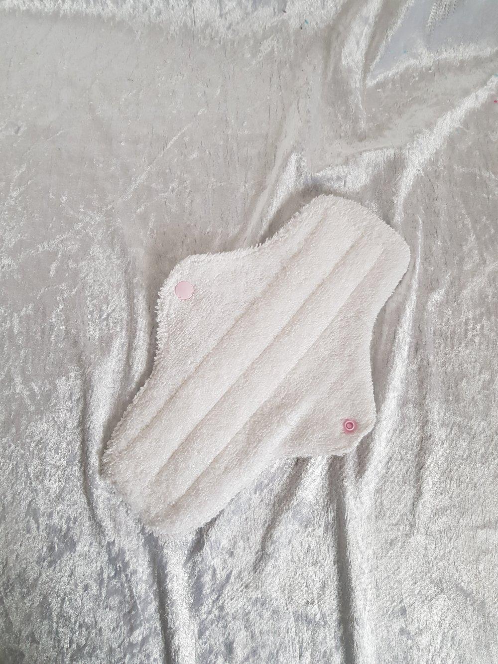 Serviette hygiènique lavable 2 épaisseurs flux abondants