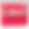 Porte-monnaie et porte-cartes rouge capucine à volant