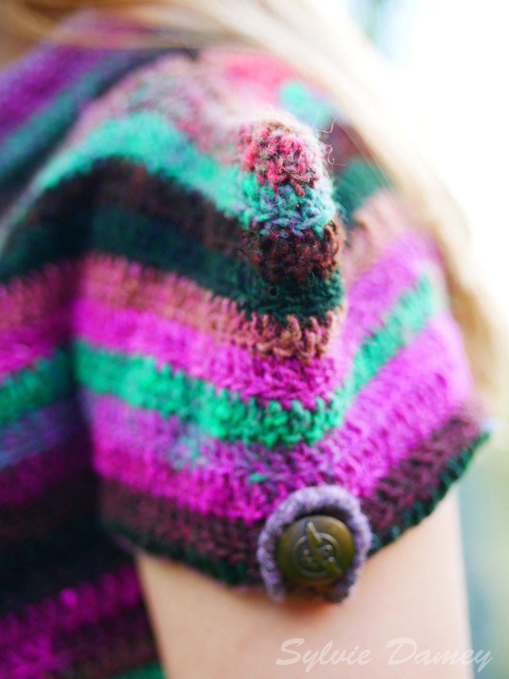 """PATRON CROCHET - Boléro femme """"Epaulettes"""" - Tutoriel pour crocheter un gilet court en tailles XS à XL"""