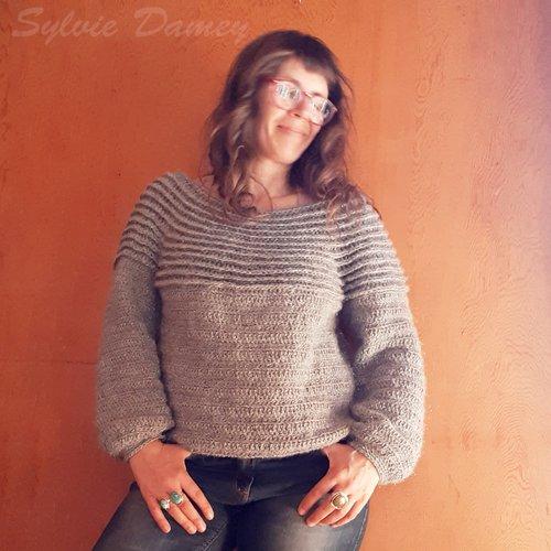 Patron crochet - pull vercors pour femme ( pdf)
