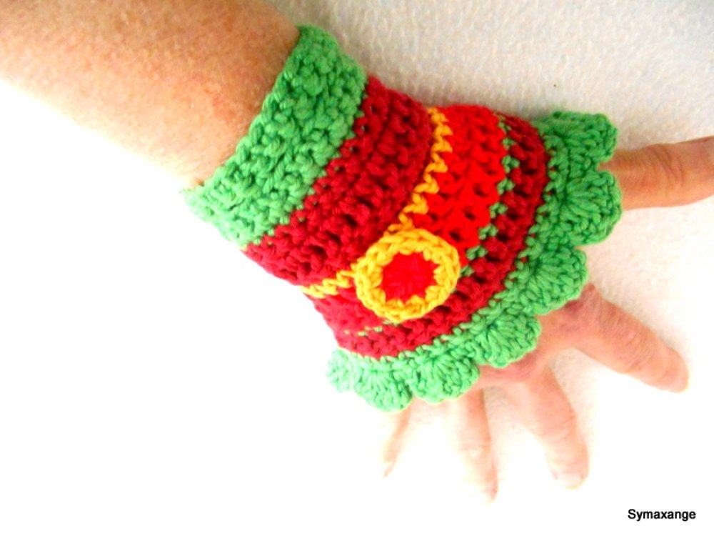 bracelet manchette crochet hippie