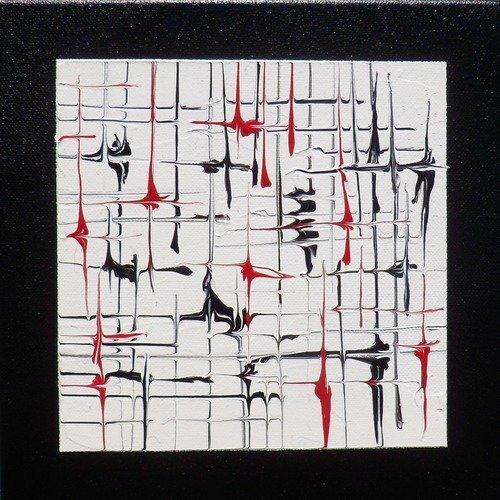 Tableau Triptyque Mural Noir Et Blanc Abstrait Peinture Acrylique