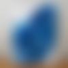 Peinture abstraite bleue et blanche, tableau contemporain à l'acrylique, 30 x 40 cm