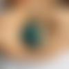 Collier mi-long pendentif verre style baroque moderne - bijoux c9, fête des mères