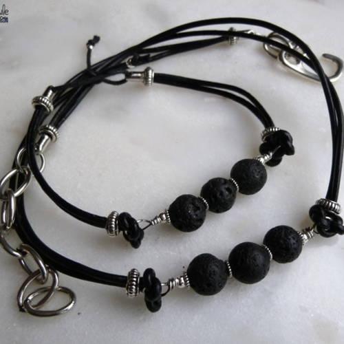 collier et bracelet pour homme