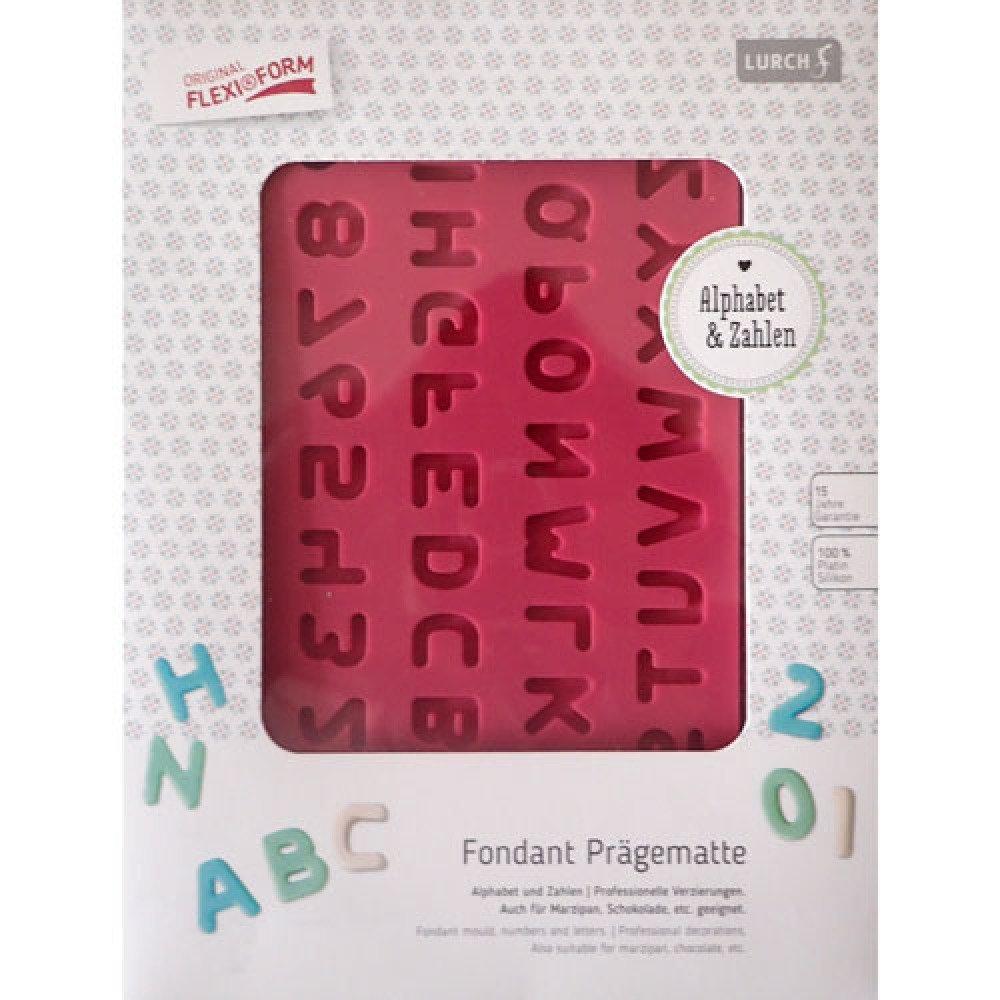 Moule alphabet et chiffres