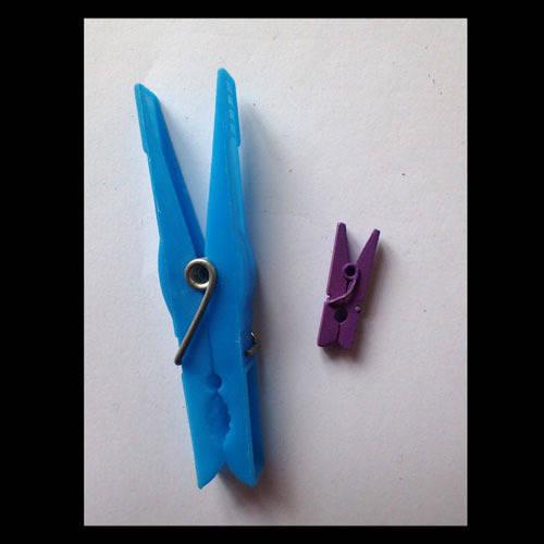 mini pinces à linge 2,5 cm violet foncé x6