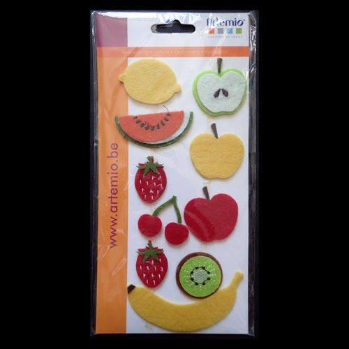 Embellissements en feutrine fruits & légumes