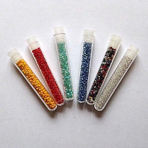 Perles de rocaille x 6 tubes