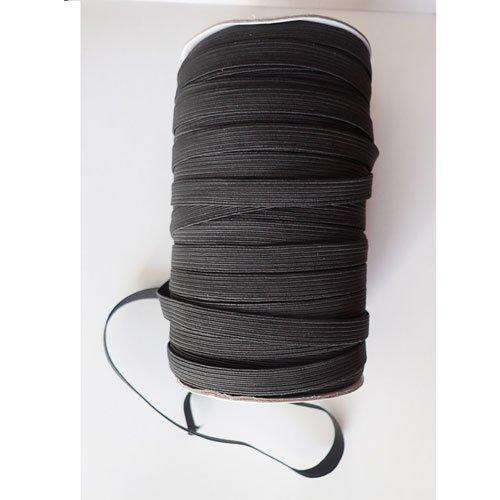 Élastique noir 9 mm  x1m