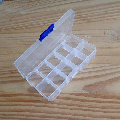 Boîte de rangement en plastique modulable
