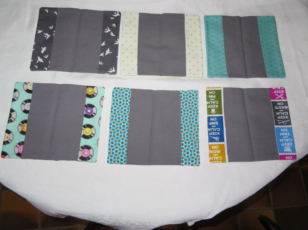 Porte chéquier tissu imprimé