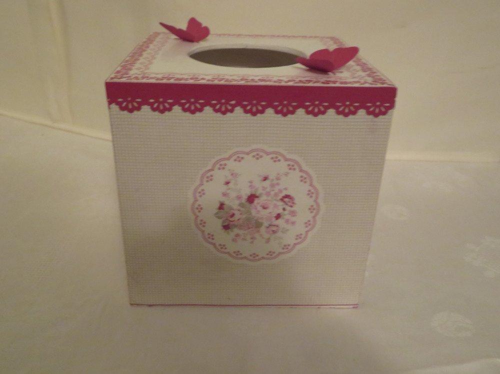 Boîte à mouchoirs carrée