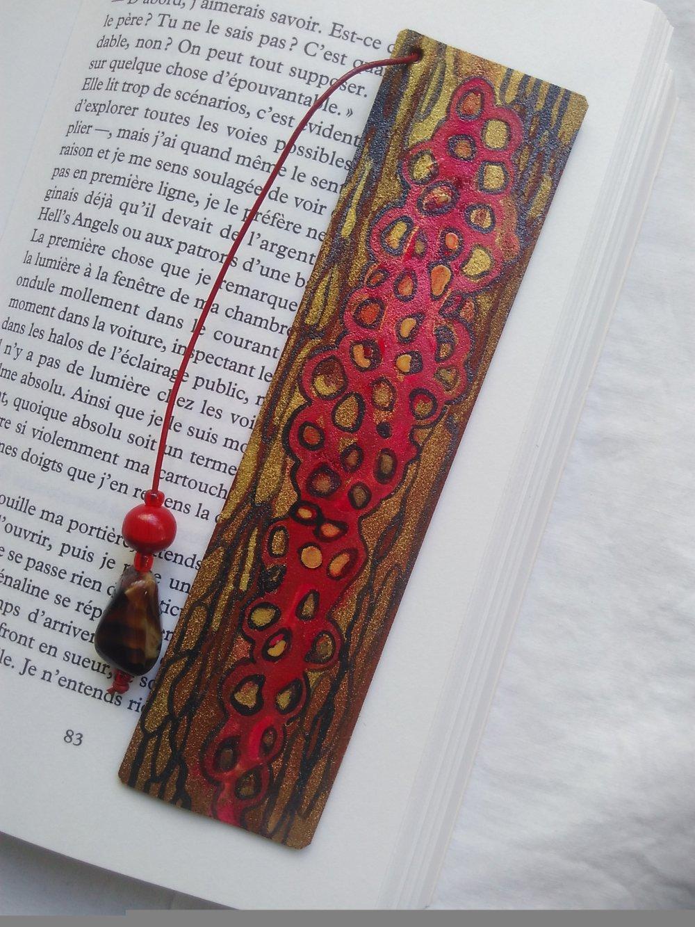 """Tout Savoir Sur Le Cuir marque-page en cuir """"motif"""""""