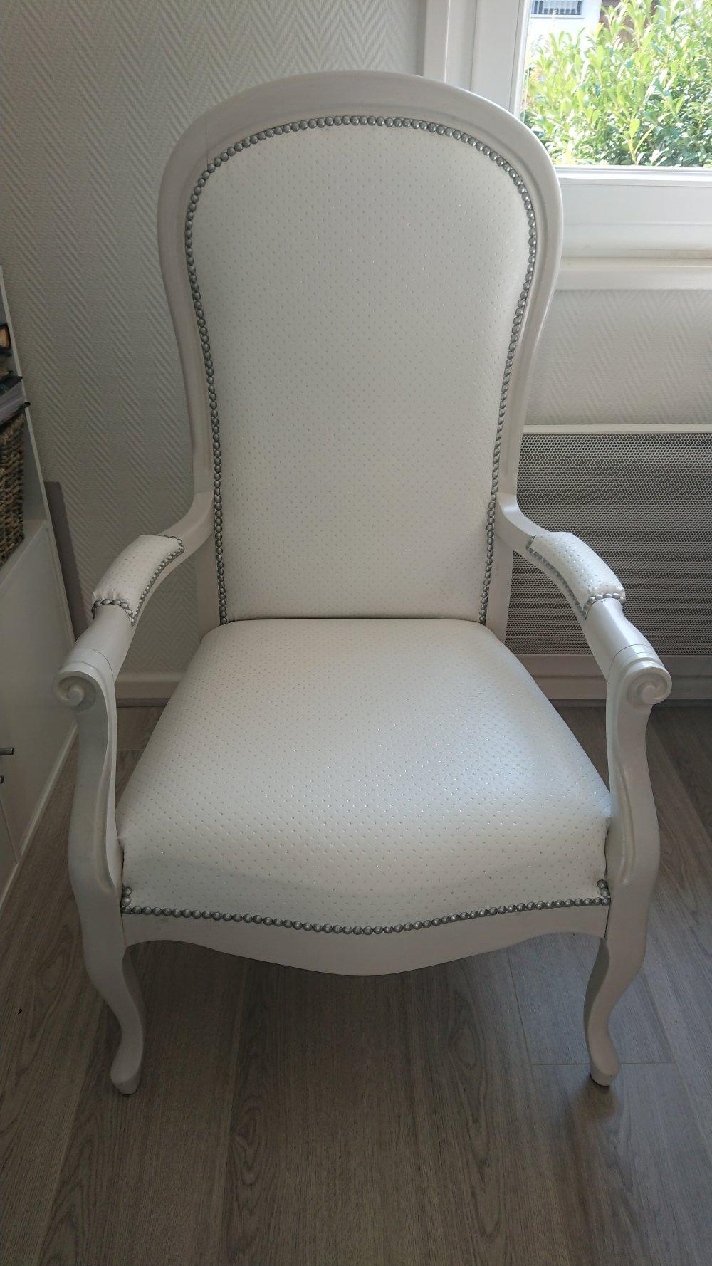 Relooker Un Fauteuil Voltaire fauteuil voltaire pureté scintillante
