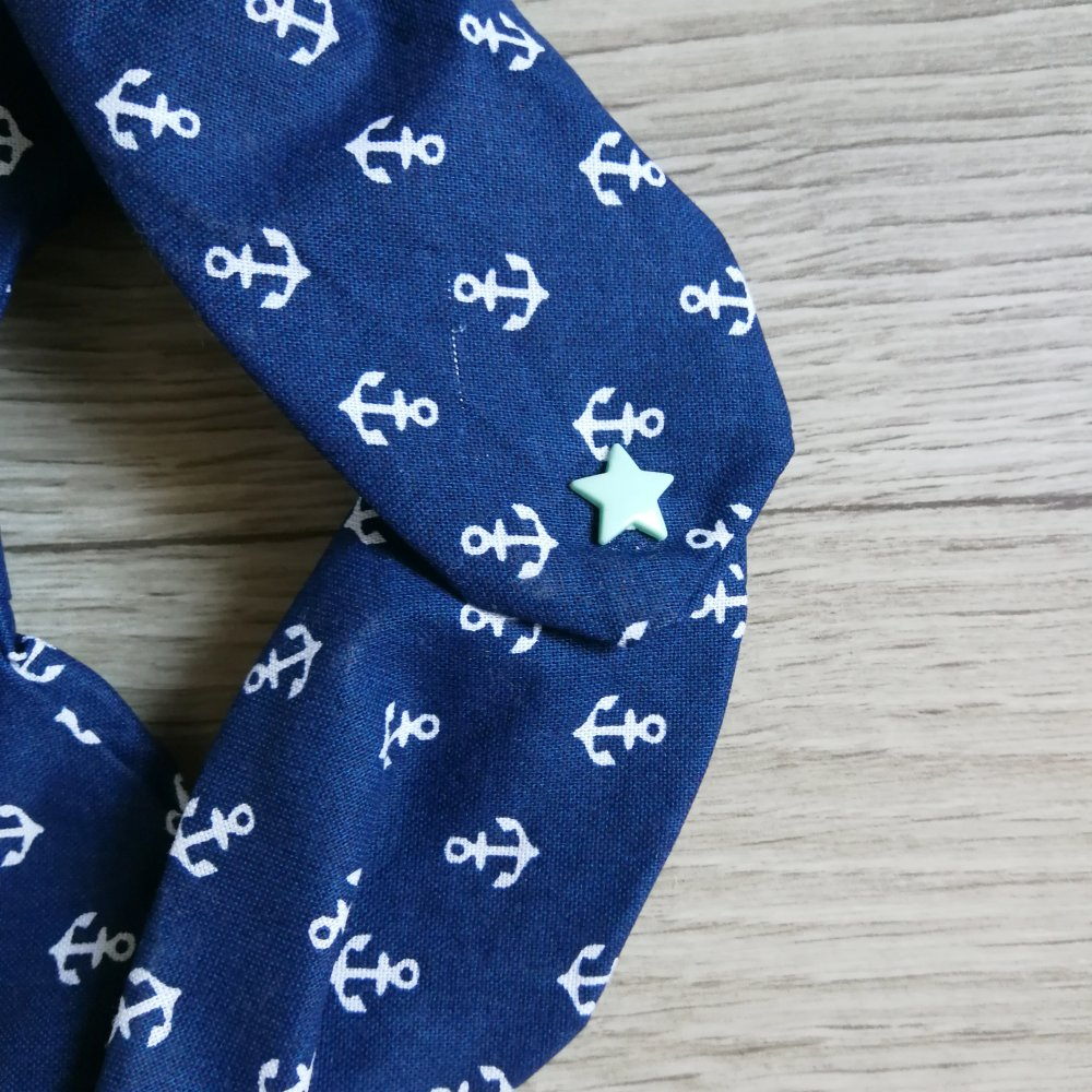 Bandana - Ancres bleues- 12/24 mois