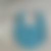 """Bavoir 6-12 mois """"raton laveur"""" - bleu canard"""