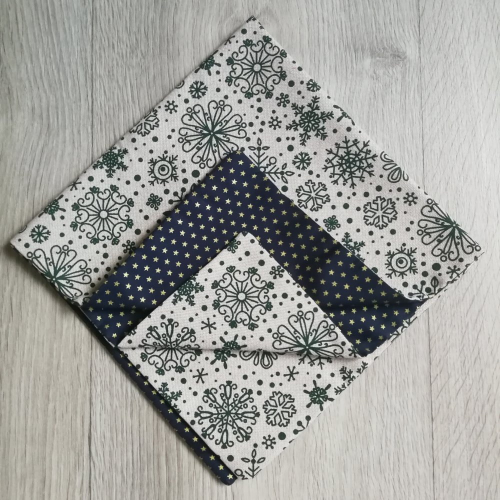 Furoshiki 50x50 cm, emballage cadeau réutilisable en tissu