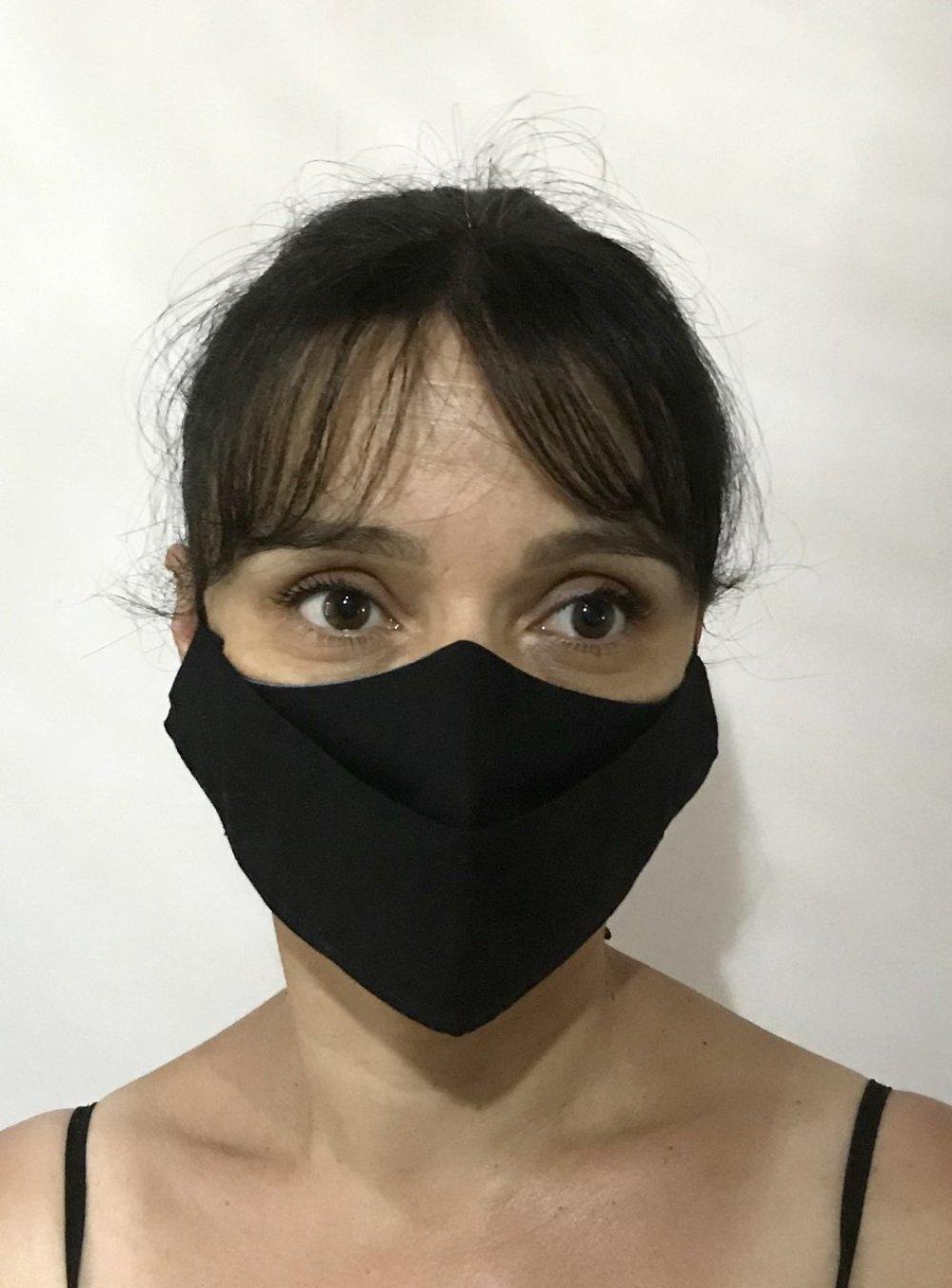 Masque tissu fleurs B