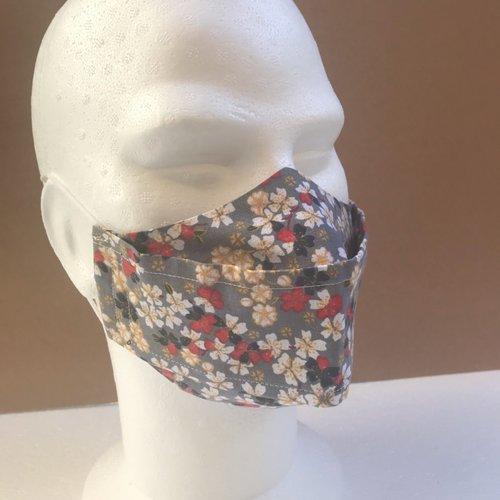 Masque tissu fleurs g