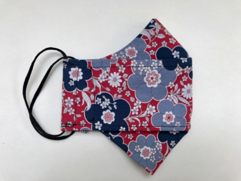 Masque tissu fleurs F