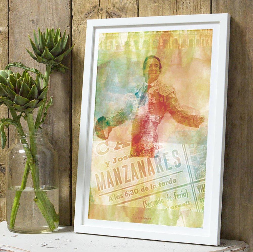 Affiche Torero Manzanares Padre A4 sans cadre