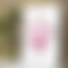 Affiche thomas dufau  fleur rose  couleur a4
