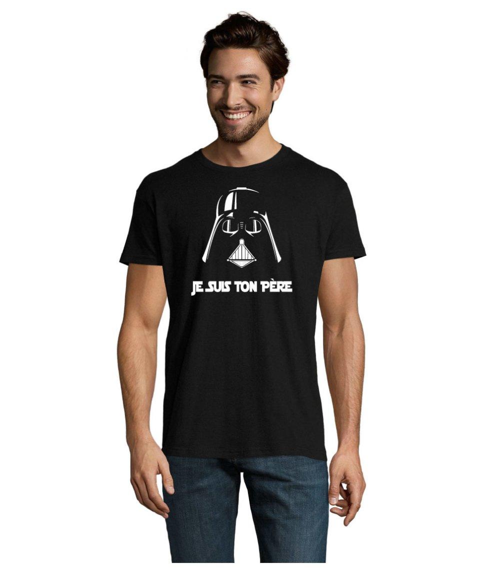 """Tee-shirt Noir """"Je suis ton père"""""""