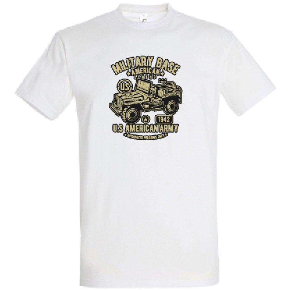 Tee-shirt Blanc JEEP ARMY