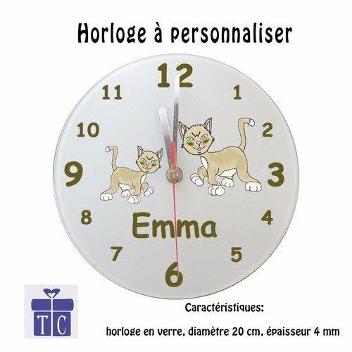 Horloge Coccinelle Personnalisable avec un Pr/énom Exemple Gaelle